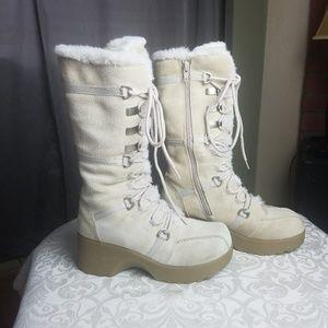 ALDO WINTER WOMEN'S high heels BOOTS size 6 cream